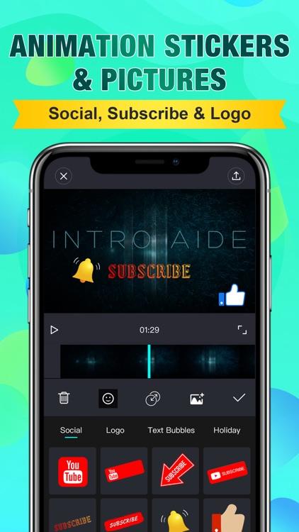Intro Aide: Outro Video Maker screenshot-6
