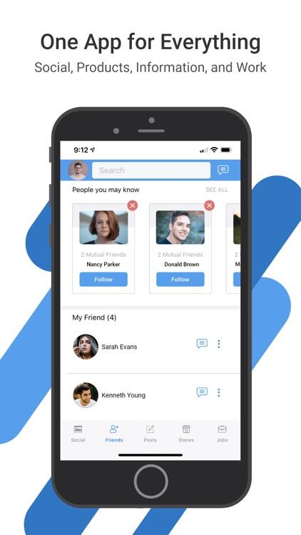 aBlueC: Find Work News Social