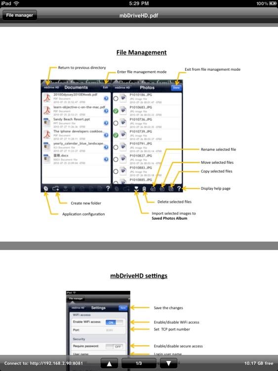 mbDriveHD - WiFi flash disk screenshot-3