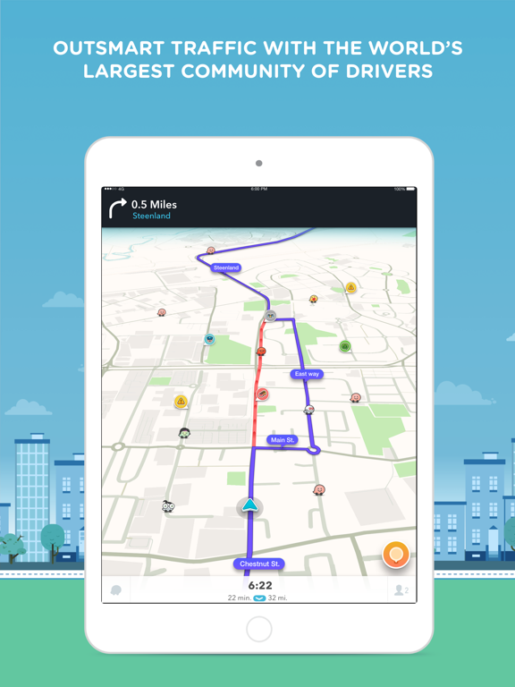 Waze Social GPS, Maps & Traffic screenshot