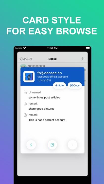 MACUT-Encrypted save accounts screenshot-5