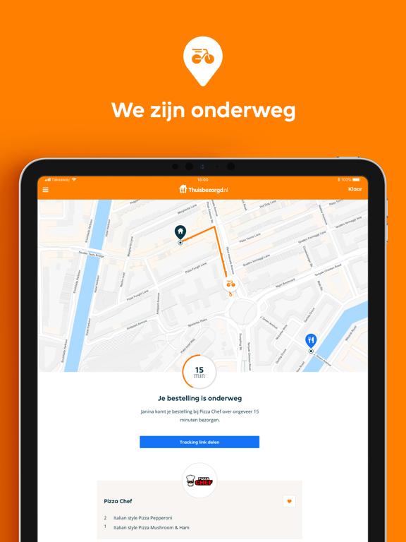 Thuisbezorgd.nl iPad app afbeelding 4