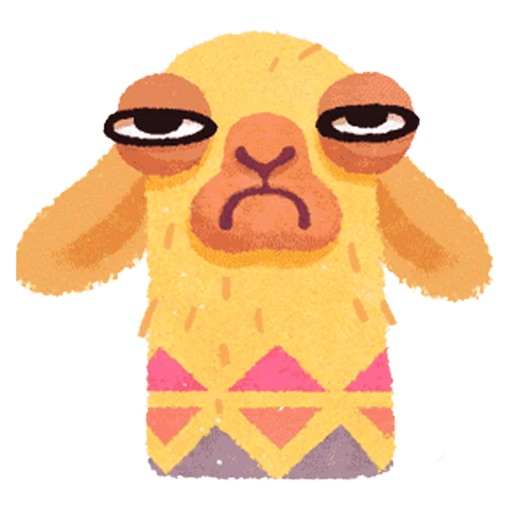 Hipster Lama Funny Stickers