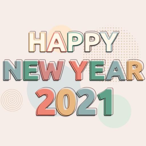 2021 Twenty New Year Stickers