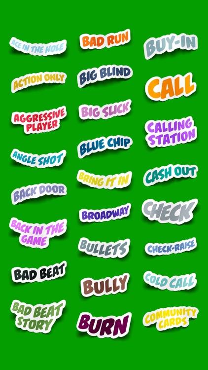 Poker Terms Sticker Pack screenshot-3