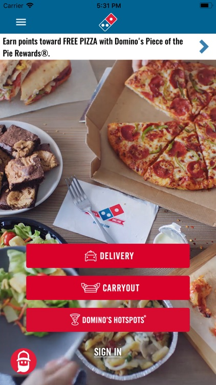dominos pizza app for blackberry