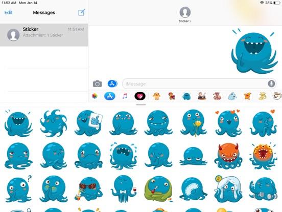 Octopus Cute Funny Stickers screenshot 5