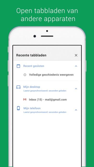 Screenshot for Chrome - webbrowser van Google in Netherlands App Store