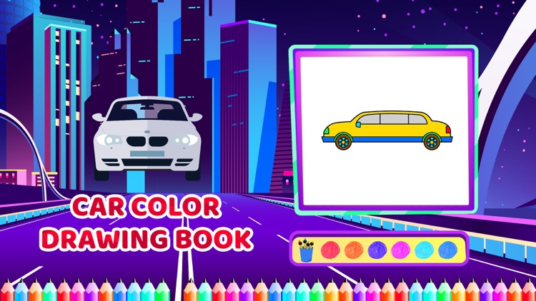 Car Colour Drawing Book screenshot-4