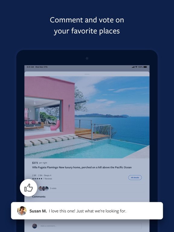 iPad Image of Vrbo Vacation Rentals