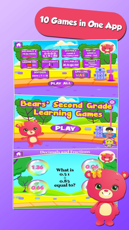 Bears 3rd Grade Learning Games
