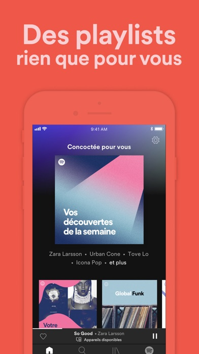 Screenshot for Spotify – Musique et podcasts in Lebanon App Store