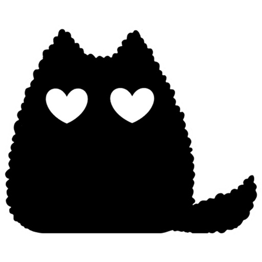 Black cat stickers - Cute emo
