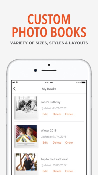 Shutterfly review screenshots