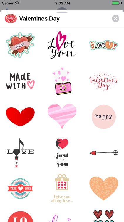Love Happy Valentines Day Pack