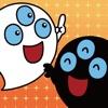 ゲーム絵本で学ぶ英語「白黒オバケ」 - iPadアプリ