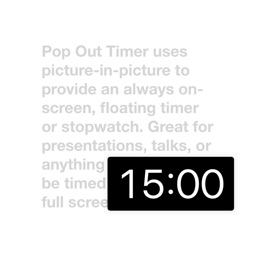 Pop Out Timer & Stopwatch