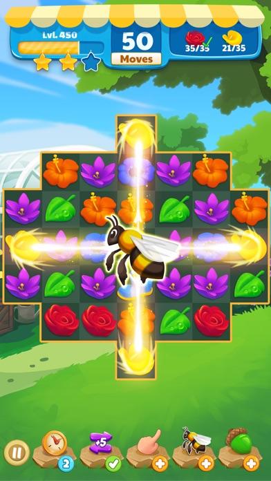 Flower Legends Match 3 screenshot 4