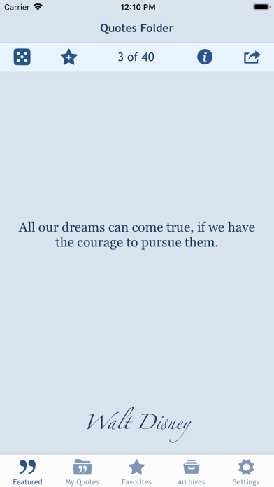 Quotes Folder Screenshots
