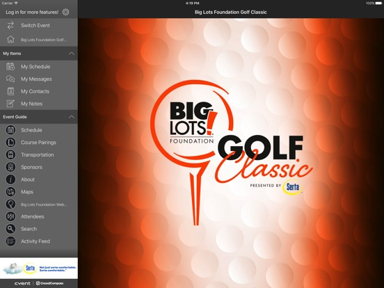 iPad Image of HNS Sports Group Events