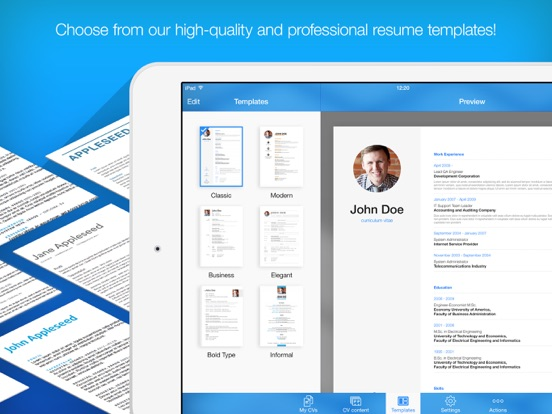resume builder  resume creator - app voor iphone  ipad en ipod touch