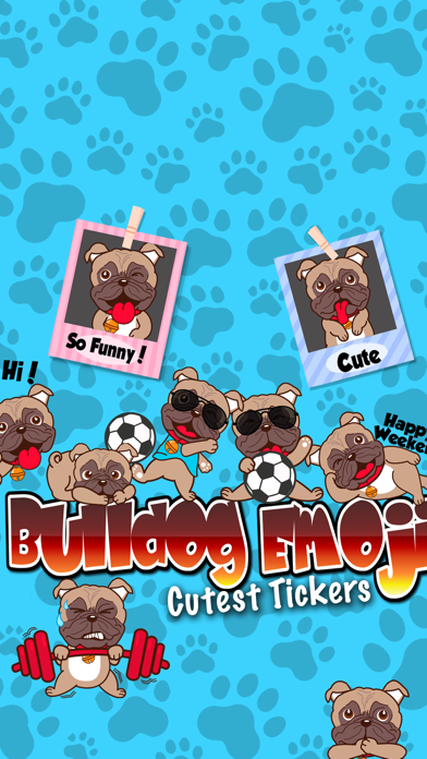 Bulldog Emoji Cutest Stickers