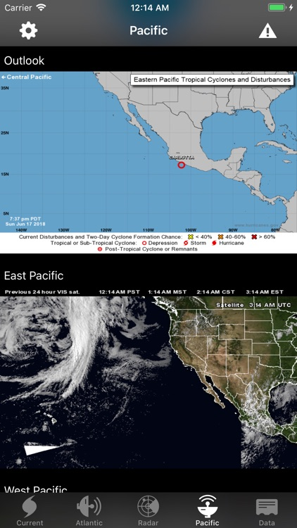 NOAA Hurricane Center screenshot-2