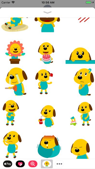 Yellow Dog Animated Stickers screenshot two