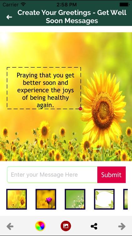 Get well Soon Greeting Maker screenshot-7