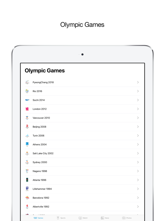Olympics screenshot