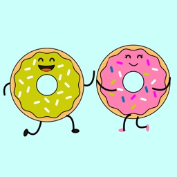 Animated Lovers Donut Stickers