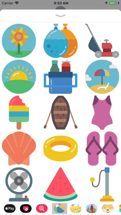 Awesome Summer Time Stickers