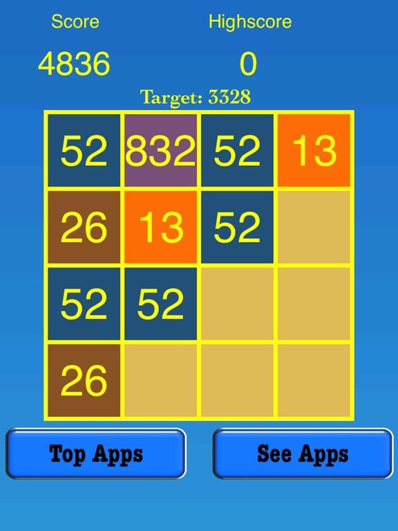 3328 Number Tiles Merge Game screenshot 7
