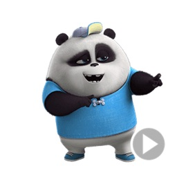 Funny Panda Animated Stickers
