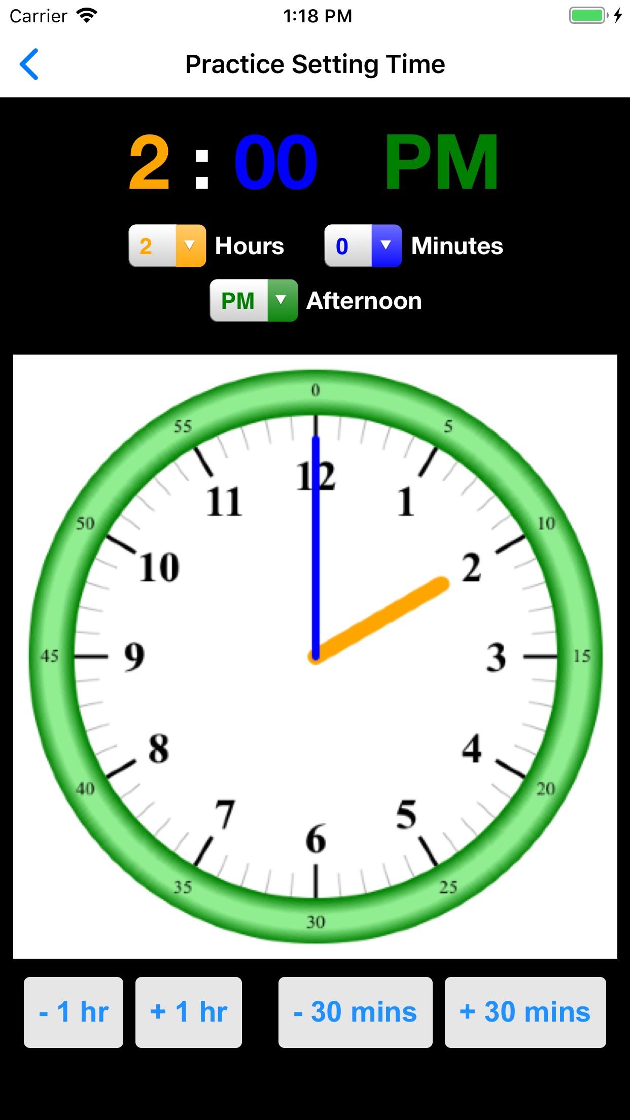 Screenshot do app Practice Clock - Speak Time!