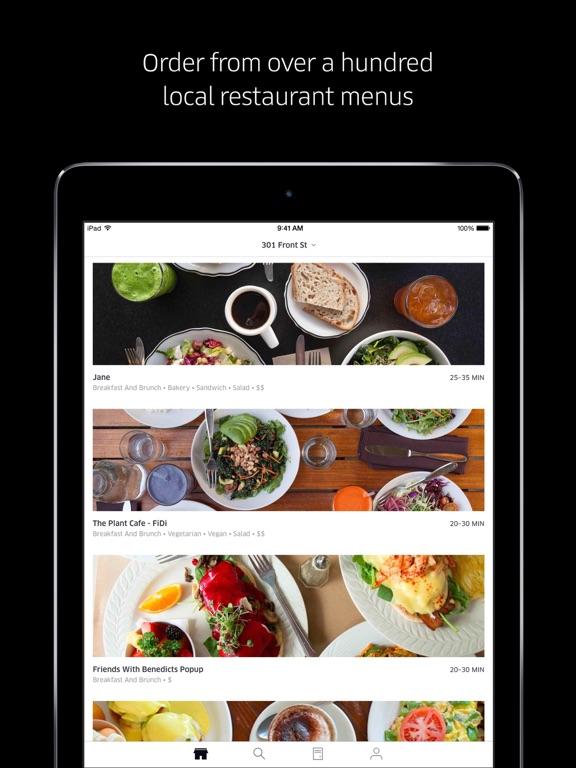 Uber Eats : Livraison de repas iPad captures décran