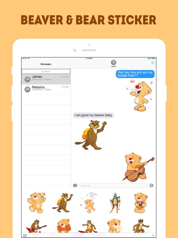 Ipad Screen Shot The Beaver and Bear Emojis 2