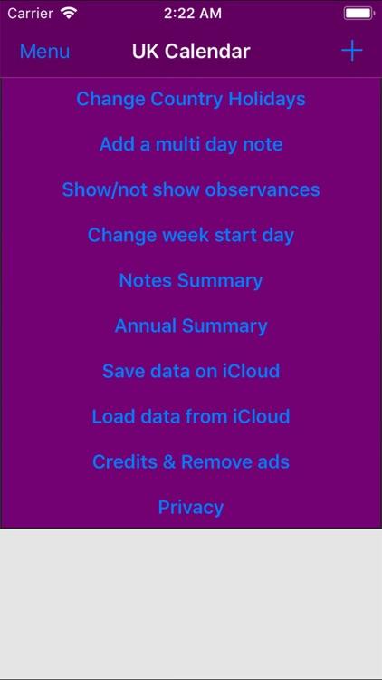 2019 UK Holiday Calendar screenshot-4