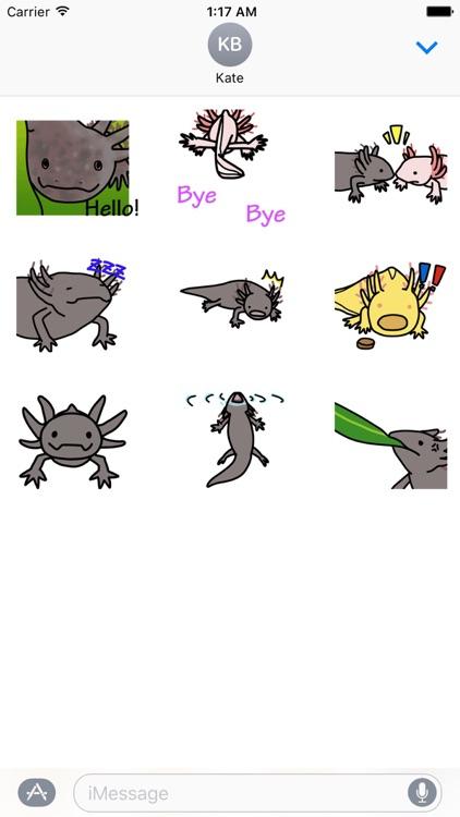 Animated Cute Axolotl Sticker