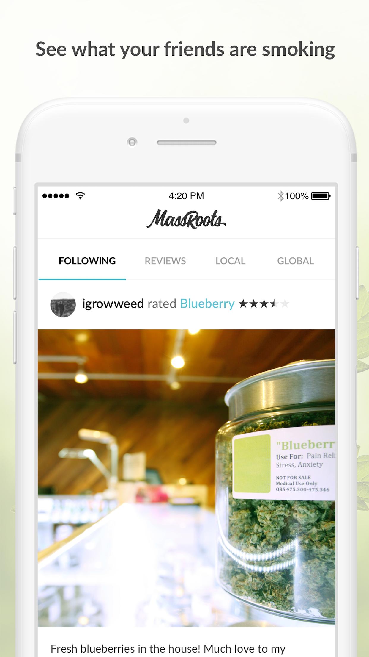 MassRoots Medical Cannabis Screenshot