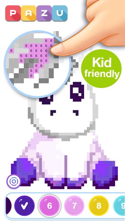 Pixel art coloring for kids