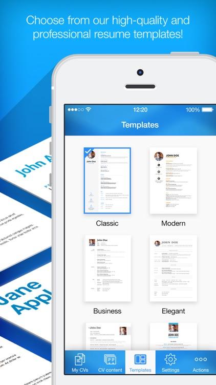 Resume Builder, Resume Creator screenshot-3