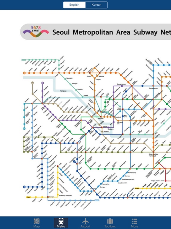 Seoul Offline Map, Metro Screenshots