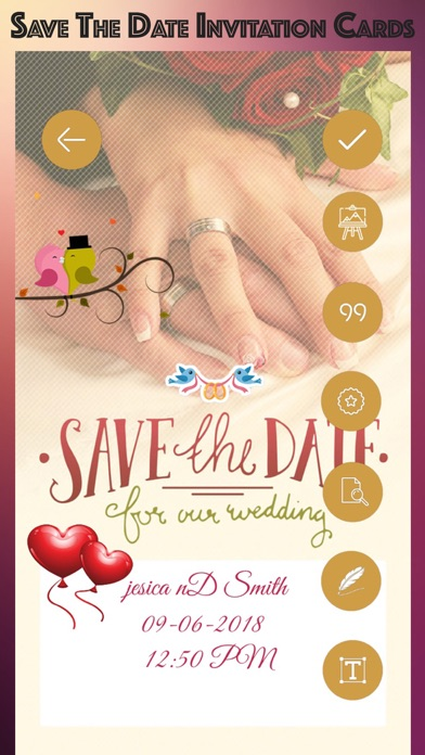 save the date invitation cards app mobile apps