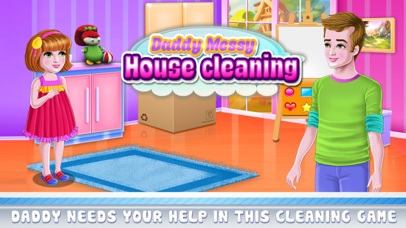 Daddy Messy House Cleaning Screenshot