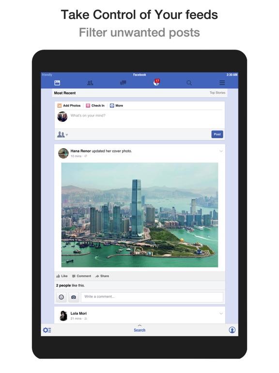 Screenshots for Friendly Social Browser