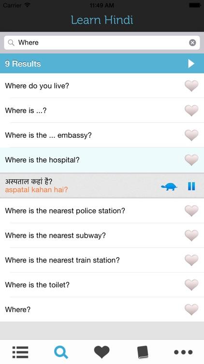 Learn Hindi - Phrasebook