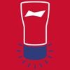 Budweiser Home Run Glass