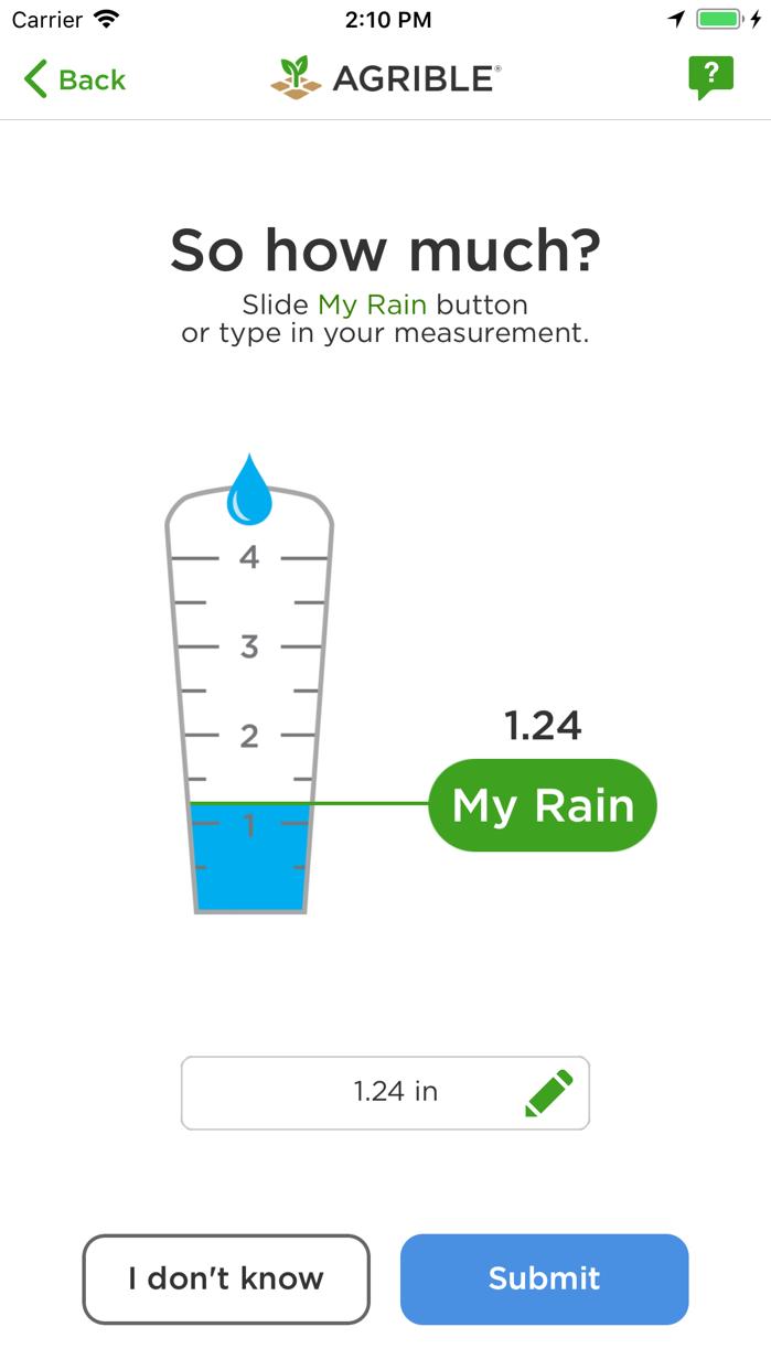 Pocket Rain Gauge™ Screenshot