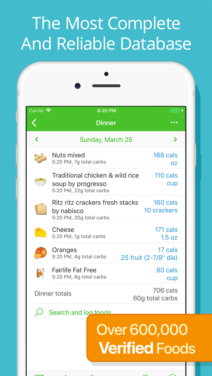 Calorie Counter by MyNetDiary Screenshot